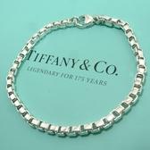 【奢華時尚】TIFFANY&Co. 情人款威尼斯 925純銀手鍊#4344