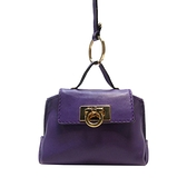Salvatore Ferragamo 費拉格慕 紫色牛皮小包包 吊飾(內裡有購物袋) 【BRAND OFF】