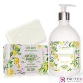 Institut Karite Paris 巴黎乳油木 檸檬馬鞭草花園香氛液體皂(500ml)+檸檬馬鞭草手工皂(200g)-公司貨