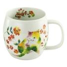 【日本製】花貓系列 瓷器馬克杯 黃色 S...