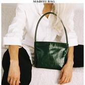 復古包包女2020春夏新款小眾通勤百搭純色中古包腋下包側背手提包 韓國時尚週