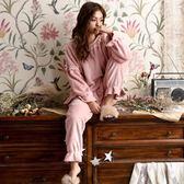 睡衣女冬甜美可愛珊瑚絨加厚保暖毛絨粉色冬天公主風法蘭絨家居服-大小姐韓風館