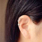 【雙12】全館低至6折正韓925銀耳骨夾耳夾簡約無耳洞耳扣U型假耳釘夾耳環銀飾男女潮流坐標