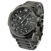 DIESEL Mega首席黑色三眼計時不鏽鋼男腕錶53mm(DZ4283)270002