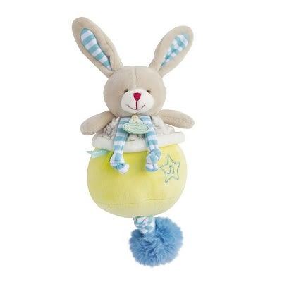 Doudou 條紋兔兔音樂鈴布偶(20cm)