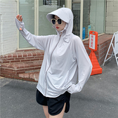 (免運)DE shop - 防曬夏季防紫外線透氣連帽外套 YY-7958