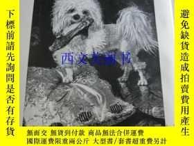 二手書博民逛書店【罕見】1890年木刻版畫《訓練有素的寵物狗》(Gut abge