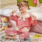 春秋季女童純棉兒童長袖公主女孩睡衣中大童卡通家居服小童女套裝 蘿莉新品