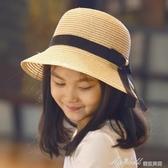 女童草帽親子韓兒童沙灘帽母女盤帽遮陽海邊涼帽子寶寶出遊帽 蜜拉貝爾