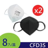 GRANDE 防霾│工業歐規FFP1-CFD3S│3D立體防塵口罩(2入組)