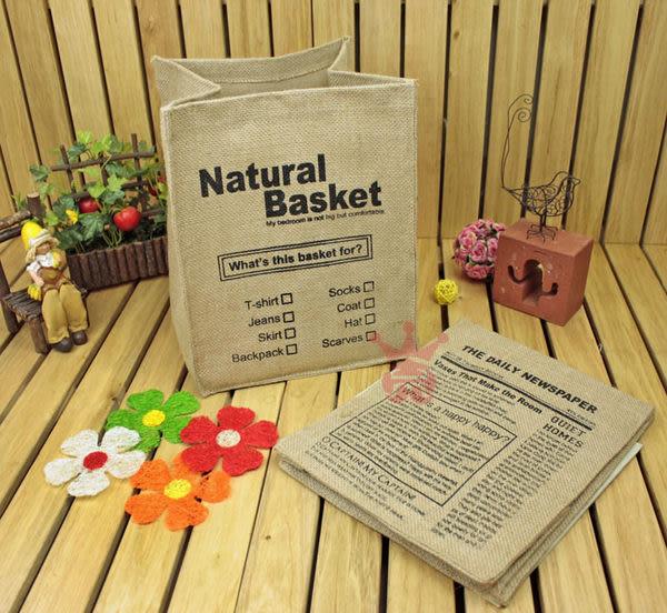 日系雜貨字母黃麻置物盒.置物籃.收納盒.收納籃