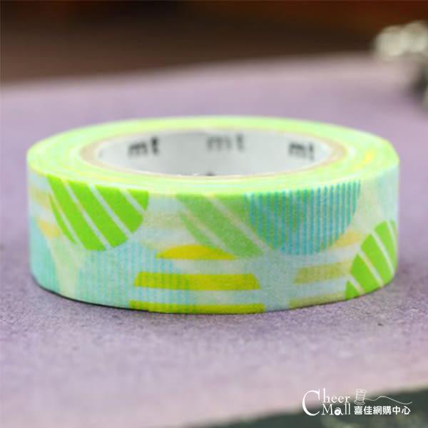 日本mt和紙膠帶1P-彩色拱門-綠