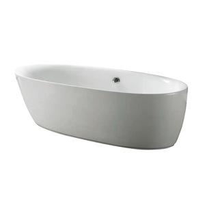 【台灣吉田】01334-180 橢圓形壓克力獨立浴缸
