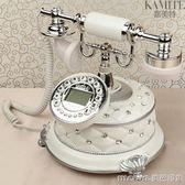 普通款歐式仿古電話機座機美式電話機賓館家用白色固定辦公古董復古電話QM 美芭