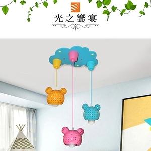【光之饗宴】馬卡龍 32 號 熊熊(藍/粉/黃)3吊燈