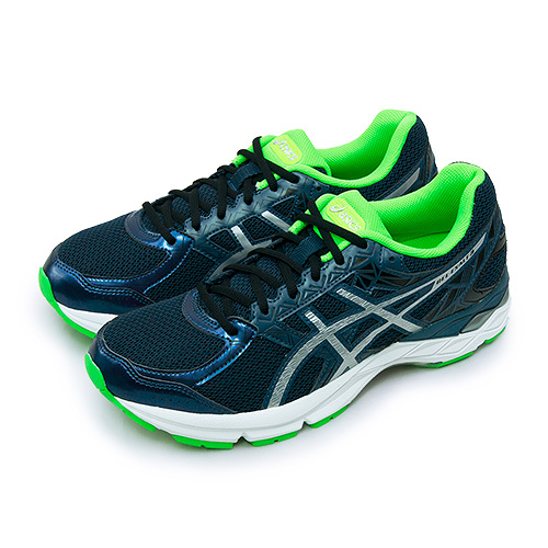 LIKA夢 Asics亞瑟士 專業避震慢跑鞋 GEL-EXALT 3 深藍綠 T616N-5893 男