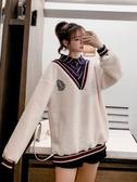 衛衣 羊羔毛衛衣女2019冬季新款洋氣學院風襯衫領設計感拼接假兩件上衣 萬客城