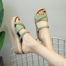 坡跟涼鞋坡跟拖鞋女夏外穿新款韓版百搭兩穿高跟鬆糕厚底時尚網紅涼拖 快速出貨