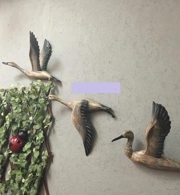 [協貿國際]   大雁壁飾咖啡廳牆面裝飾品挂件  (1套入)