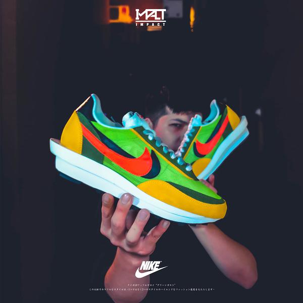 IMPACT Sacai x Nike LDV Waffle Daybreak Green 橘 綠 BV0073-300