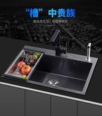加厚304不銹鋼手工單槽黑色廚房菜洗盆洗碗池 熊熊物語