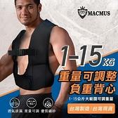【南紡購物中心】【MACMUS】15公斤可調式男女負重背心 加重背心加重衣