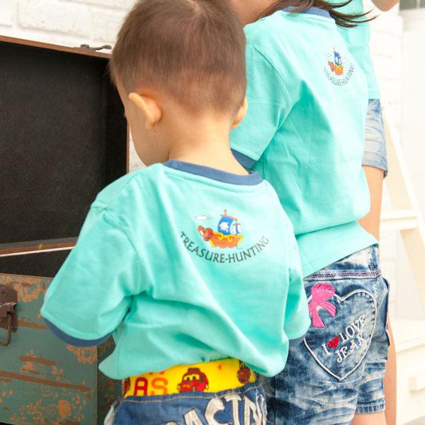 幸福森林.棉質圓領短袖親子T恤-尋寶大冒險(男童款)