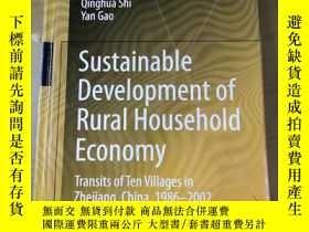 二手書博民逛書店sustainable罕見development of rural household economy trans