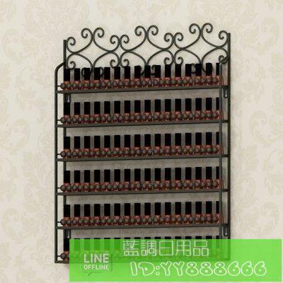鐵藝壁掛指甲油 展示架美甲架指甲油膠架子 化妝品架展示櫃收納架