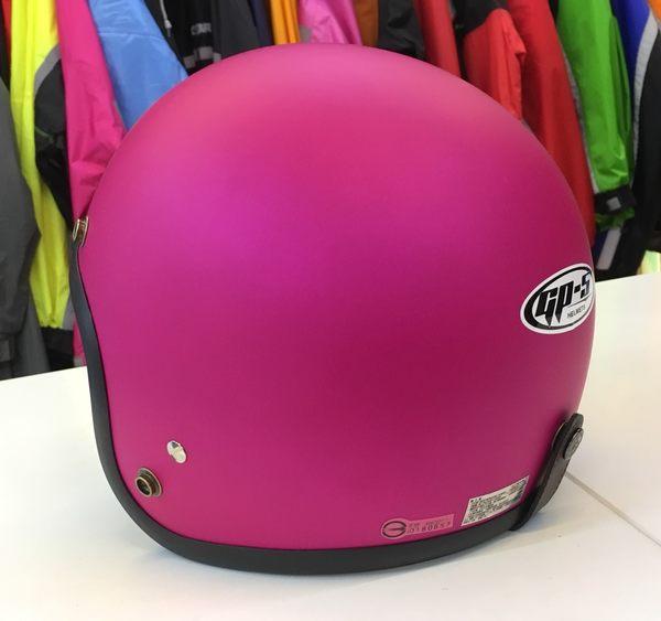 GP-5安全帽,復古帽,小帽體,D303,消光桃紅