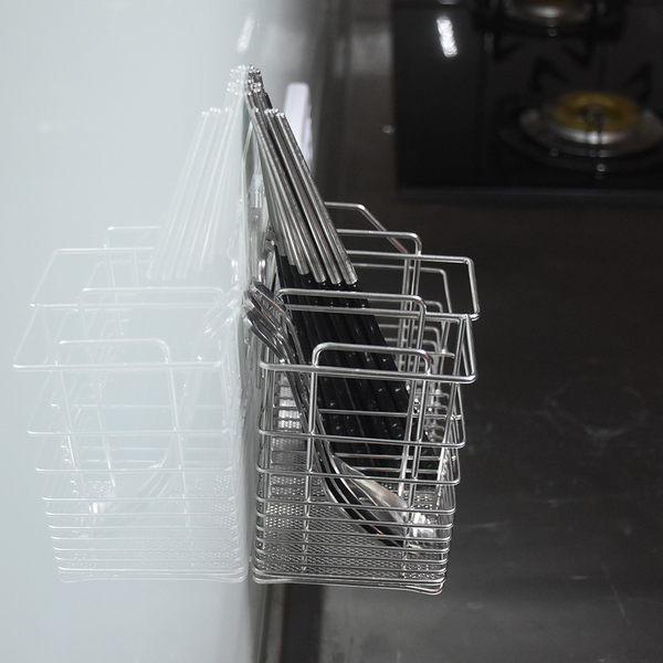 大筷架 筷籃 筷籠 304不鏽鋼無痕掛勾 易立家生活館 舒適家企業社 廚房刀叉湯匙餐具收納瀝水架