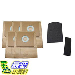 [106美國直購] 5 Bissell Zing Canister 7100 & 7100L Bags & 2 Filters (Pre & Post Motor Filters) 3210