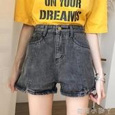 網紅同款2020夏季新款韓版寬鬆顯瘦高腰黑色學生直筒牛仔短褲女潮 蘿莉小腳丫