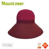 【Mountneer 山林 中性透氣抗UV草編帽《深桃紅》】11H06/抗UV/遮陽帽/防曬帽/休閒帽