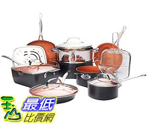 [8美國直購] 陶瓷不沾鍋 廚房套裝 Gotham Steel 1752 Ultimate 15 Piece All in One Chefs Kitchen Set Non-Stick Ti-Cerama