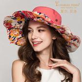 帽子女夏天可折疊大沿遮陽帽正韓潮太陽帽出游防曬海邊沙灘帽