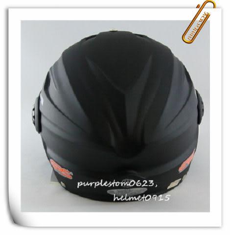 林森●GRS半罩安全帽,半頂式,瓜皮帽,雪帽,760,W鏡片款,消光黑