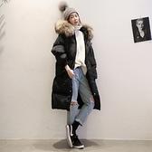 羽絨外套-白鴨絨中長款韓版軍工裝女連帽夾克2色73pl8【巴黎精品】