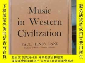 二手書博民逛書店music罕見in western civlizationY26