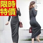 洋裝-長袖俏麗氣質典雅韓版連身裙61a90[巴黎精品]