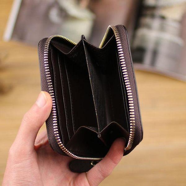 全館免運八折促銷-男短款簡單拉鍊零錢包女個性迷你實用時尚硬幣包可愛學生正韓簡約