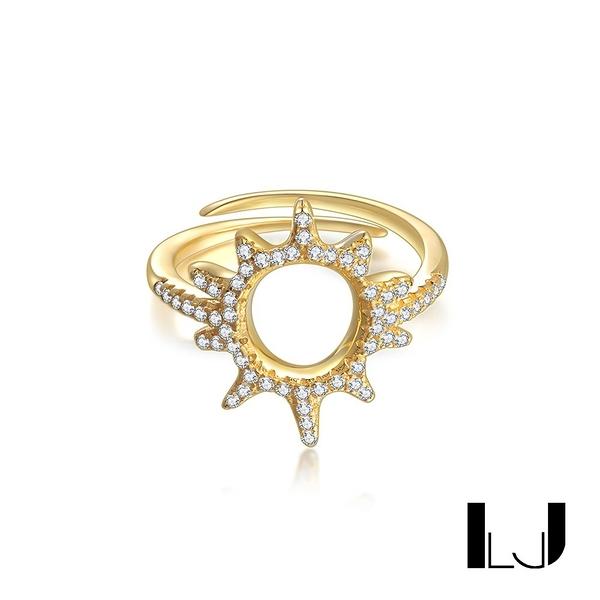 Little Joys 小太陽鋯石戒指 925銀鍍金 旅美原創設計品牌