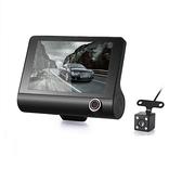 4寸三錄行車記錄儀隱藏式1080P高清夜視倒車影像 潮流衣舍