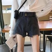 網紅牛仔褲女寬鬆夏季新款韓chic版高腰百搭a字闊腿短褲熱褲 poly girl