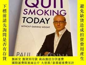 二手書博民逛書店Quit罕見Smoking Today without Gaining WeightY26171 MCKENN