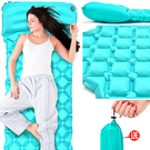 單人充氣睡墊(有枕頭.贈收納袋)蛋巢式保...
