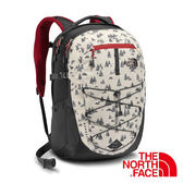 The North Face BOREALIS 雙肩電腦背包28L『白/紅』 後背包 輕量背包 書包 登山包 CHK4