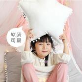 小抱枕可愛五星毛球沙發抱枕床上靠枕純綿裝飾靠墊INS 伊韓時尚
