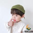 兒童帽子男春秋英倫地主帽百搭男童寶寶瓜皮帽薄款冷帽【創世紀生活館 】