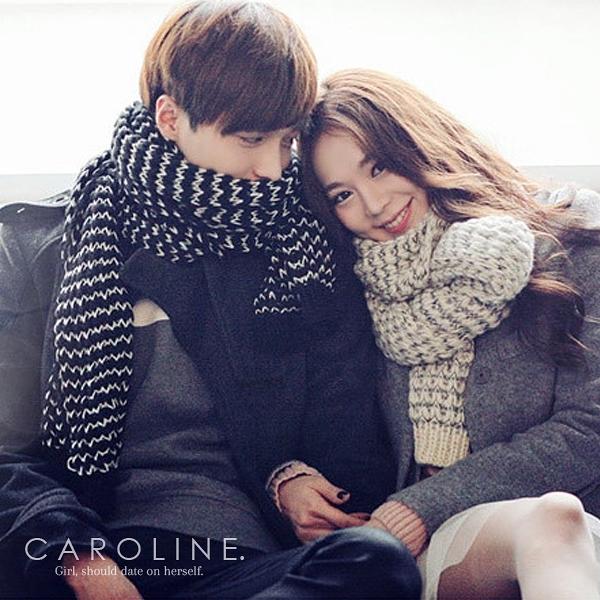 《Caroline》★ 圍巾女神秋冬必備款 情侣款男女通用 秋冬新款時尚保暖圍巾70022